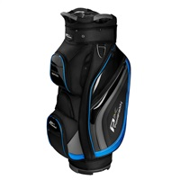 Powakaddy Premium Edition Cart Bag Black/Gun Metal/Blue