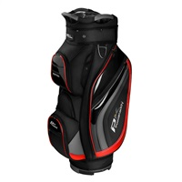 Powakaddy Premium Edition Cart Bag Black/Gun Metal/Red