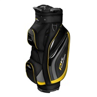 Powakaddy Premium Edition Cart Bag Black/Gun Metal/Yellow