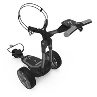 Powakaddy FX7 GPS Electric Trolley 18 Hole Lithium Battery Gunmetal Metallic