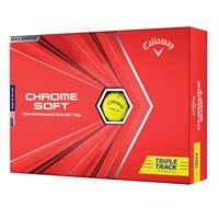 Callaway Chrome Soft Triple Track Golf Balls Yellow 12 Ball Pack