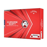 Callaway Chrome Soft Truvis Golf Balls Red