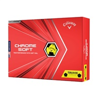 Callaway Chrome Soft Truvis Golf Balls Yellow/Black
