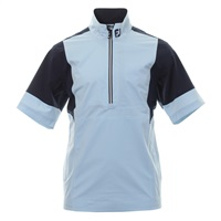 FootJoy HyrdoLite V2 Short Sleeve Rain Shirt Blue Fog/Navy