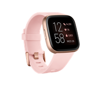 Fitbit Versa 2 Health and Fitness Smartwatch Petal/Copper Rose Aluminium