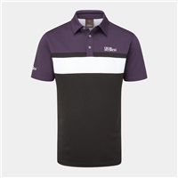 Oscar Jacobson Boston Polo Shirt Black/Plum