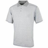 Island Green Marl Polo Shirt Battleship Grey