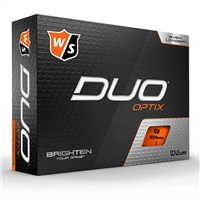 Wilson Duo Optix Golf Balls Orange