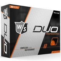 Wilson Duo Professional Golf Balls Orange