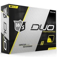 Wilson Duo Professional Golf Balls Yellow