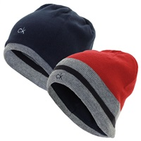 Calvin Klein Golf Helm Beanie Hat Red/Grey