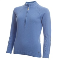 Green Lamb Ladies Gigi Superwool Half Zip Sweater Sky