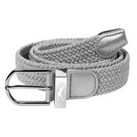 Surprize Shop Ladies Stretch Webbing Golf Belt Metallic Silver