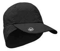Surprize Shop Ladies Waterproof Quilted Cap with Umbrella Ball Marker Black