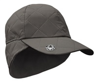 Surprize Shop Ladies Waterproof Quilted Cap with Umbrella Ball Marker Charcoal Grey