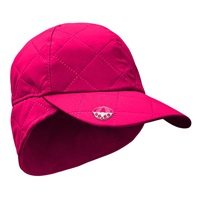 Surprize Shop Ladies Waterproof Quilted Cap with Umbrella Ball Marker Hot Pink