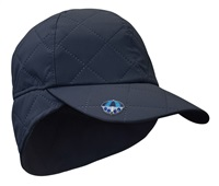 Surprize Shop Ladies Waterproof Quilted Cap with Umbrella Ball Marker Navy