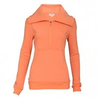 Calvin Klein Golf Deluxe Zip Up Sweater with Contoured Fit Blush