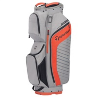TaylorMade TM20 Golf Cart Bag Lite Gray/Blood Orange