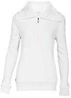 Calvin Klein Golf Deleuxe Zip Up Sweater with Contoured Fit Blush White