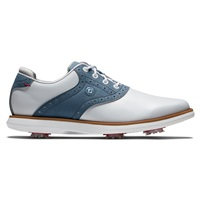 FootJoy Ladies Traditions Golf Shoes White/Blue