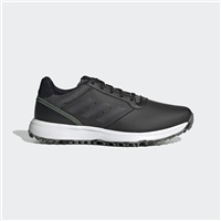 adidas S2G Leather Golf Shoes -  Black/Charcoal/White
