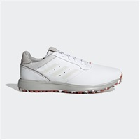 adidas S2G Leather Golf Shoes - White/Silver/Red
