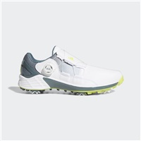 adidas ZG21 Boa Golf Shoes - White/Blue Oxide/Yellow