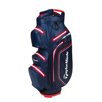 TaylorMade TM21 StormDry Waterproof Navy/Red Cart Bag