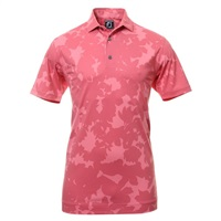 FootJoy Camo Floral Print Golf Polo Shirt Cape Red