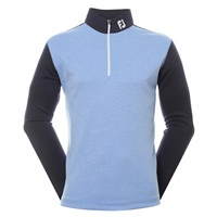 FootJoy Heather Colour Block Chill Out Golf Pullover Navy/Lagoon