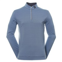 FootJoy Micro Stripe Chill Out Golf Pullover Navy & Lagoon