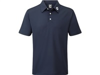 FootJoy Stretch Pique Solid Colour Athletic Fit Golf Shirt Navy