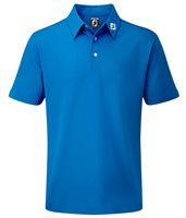 FootJoy Junior Stretch Pique Polo Cobalt