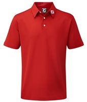 FootJoy Junior Stretch Pique Polo Red