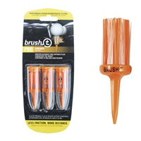Masters Brush Tees 3Pk Orange