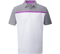 FootJoy Verdant Stretch Lisle Engineered Stripe Polo