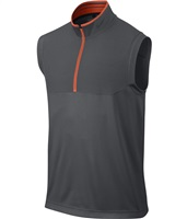Nike Golf Dri-Fit Half Zip Vest Dark Grey/Electro Orange/Anthracite