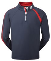 FootJoy Asymmetric Chillout Pullover Navy Red