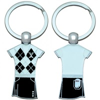 Golf 2 Golf Argyle Golf Outfit Keyring Black And White