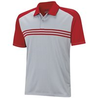 Adidas ClimaCool Sport Classic 3-Stripes Polo Mid Grey Power Red