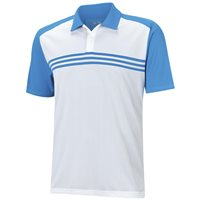 Adidas ClimaCool Sport Classic 3-Stripes Polo White Bright Blue