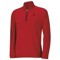 Adidas 3 Stripes 1/2 Zip  Power Red