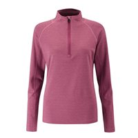 Ping Collection Heidi 1/2 Zip Base Layer Cranberry