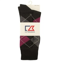 Cutter & Buck Argyle Socks Black