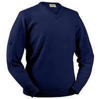 Glenbrae Lambswool V Neck Sweater Azure Blue