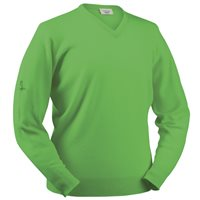 Glenbrae Lambswool V Neck Sweater Zest