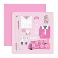 Surprize Shop Golf Outfit Ballmarker Card