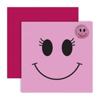 Surprize Shop Pink Smiley Ballmarker Card