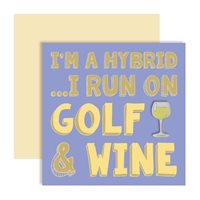 Surprize Shop I'm A Hybrid I Run On Golf and White Wine Ballmarker Card